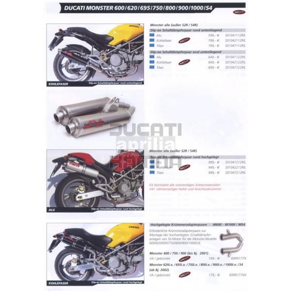 Silmotor For Monster 6006206957508009001000s4 Exhaust