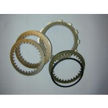 Modified Surflex ergal clutch discs for Aprilia RSV 1000